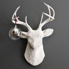paper-mache  stag by dushka