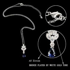 EVER FAITH Women's Zircon Elegant Leaf Fire Teardrop Jewelry Set Sapphire Color Silver-Tone * Check out the image by visiting the link. (This is an affiliate link) #JewelryForSale