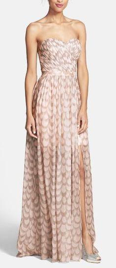 flowy chiffon gown