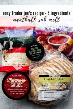 If you love easy Trader Joe's dinner hacks, you'll love this Easy Trader Joe's Recipe: Meatball Marinara Sub Recipe. It's filling, easy, and delicious! Trader Joes Food, Trader Joe's, Joes Italian, Sandwich Melts, Meatball Sub Recipe, Joe Recipe, How To Cook Meatballs, Meatball Marinara, Herb Butter