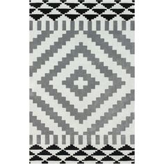 nuLOOM Handmade Modern Aztec Grey Rug (5' x 8') | Overstock.com Shopping - Great Deals on Nuloom 5x8 - 6x9 Rugs