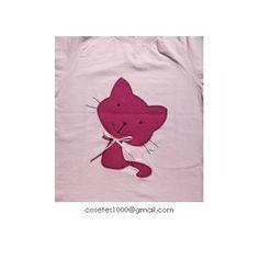 Camiseta gat - Cat in a T-shirt - Applique