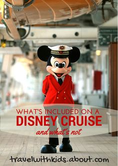Find out what's included -- and what's not -- in your Disney Cruise Line fare | About.com Family Vacations #disneycruise #cruise #familytravel #familyvacation
