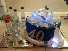 Incorporate LED Ice Cubes in your CAKE. And Vodka. And everything really: http://www.flashingblinkylights.com/lightedicecubes-c-114_77.html