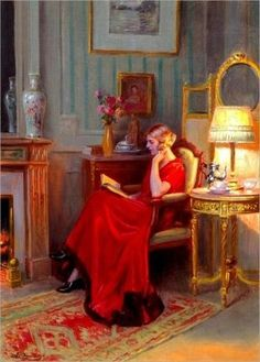Reading By Lamplight 2 By Delphin Enjolras Wall Art from Beverly A Mitchell. Choose From Print or Oil on Canvas Reproduction on all Artwork. Framed and Unframed Prints and Paintings Ship Worldwide for Free using UPS 3 Day Express. Reading Art, Woman Reading, Love Reading, Reading Books, Bedtime Reading, Reading Time, Books To Read For Women, Delphine, World Of Books