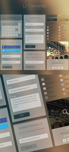 Flat UI Kits PSD with Modern UX