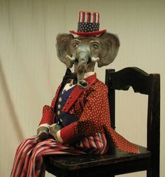 Handmade OOAK Chair Sitter Republican Party by cre8orstouch, $125.00