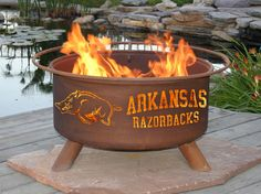 Nothing like a cool night, sitting by a nice warm fire, drinking your favorite adult beverage while listening to the HOGS play, with your sweet hubby!  I know Steve would Love this fire pit!