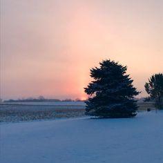 "28 Likes, 1 Comments - @creation_calling on Instagram: ""Crisp winter morning! #sunrise #ontario #winter2017 #snowymorning #ontariofarms"""