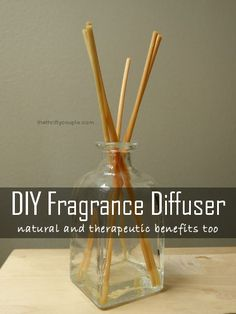 DIY Natural Homemade Fragrance Diffuser with Therapeutic Benefits Too