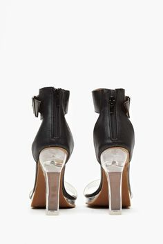 Jeffrey Campbell Soiree Heel - Black - Back In Stock | Heels | Open Toe | Jeffrey Campbell | Pumps | Barely There | All | Shoes