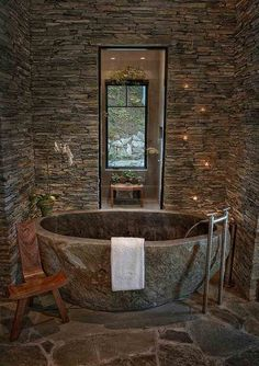 Natural Stone Bathtub Ideas for Your Bathroom is part of Rustic bathroom designs Ceramic tiles are offered in a wide range of colors They are a popular choice when it comes to bathroom flooring -