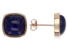 Timna Jewelry Collection(Tm) Square Cabochon Lapis Lazuli Copper Stud
