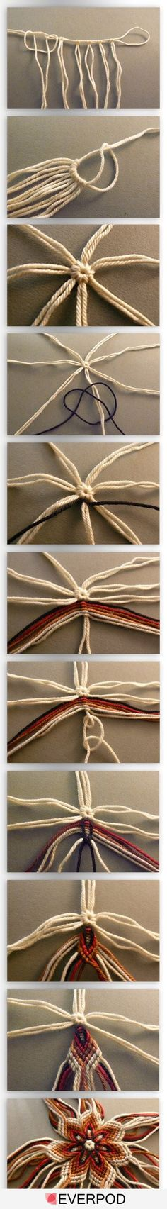 I want to try this, although this may be above my level of macramé talent.