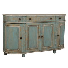 Aqua Blue Cottage Demilune Sideboard : Painted Furniture : to buy or to paint