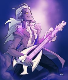 Prince Lotor the evil Galra Prince as a rock and roll singer star from Voltron Legendary Defender