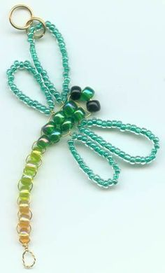 Looking for an easy craft project with minimal cost and endless variety? How about a beading project that results in something you can use to add sparkle to your clothes, keys, luggage, decor, or holiday decorations? This Beaded Dragonfly is the perf Wire Jewelry, Jewelry Crafts, Beaded Jewelry, Handmade Jewelry, Beaded Bracelets, Jewelry Rings, Jewelry Ideas, Handmade Wire, Jewellery Box