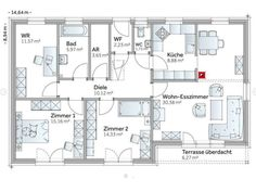 case cu iesire in curte din dormitor Bungalows, Be A Nice Human, Tiny House, Life Is Good, House Plans, Sweet Home, Floor Plans, Cottage, Flooring
