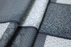 Tissu japonais imprimé rectangles avec motifs traditionnel japonais Edo Komon.