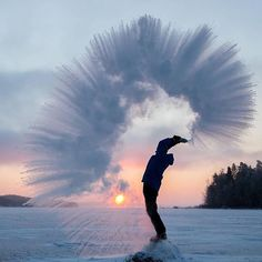 This is what happens when you throw hot water in the air when it is -20 C Photo by Jari Sokka  Finland
