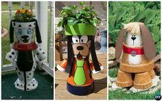 Terracotta Clay Pot Puppy Planter DIY Clay Pot Garden Craft Project