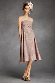 There Is Only You & Me: Valenciennes Dress. Strapless dress is covered in lace. Boned bodice has pleats that accentuates the bust. Eyelash trim on every lace scallop. Back zip. Acetate lining. http://s7d1.scene7.com/is/image/BHLDN/20604344_015_c?$zoom-xl$ http://s7d1.scene7.com/is/image/BHLDN/20604344_015_b?$zoom-xl$