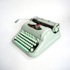 Vintage Manual Typewriter Cursive Hermes 3000 Mint by TheDeeps, $460.00