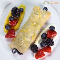 Michael Symon's Lemon Curd and Berry Crepes! #TheChew  #NoBakeDessert
