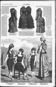 Gracieuse. Geïllustreerde Aglaja, 1883, aflevering 20, pagina 159 - no skirts to these!