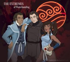 The title of this is called 'The Extremes of Waterbending'.  I gotta say, best to Korra, Mako and Bolin, these three make a real badass trio. And the way Amon/Noatak is drawn is amazing, he really does look like Tarrlok's brother. And Korra is epic as usual.