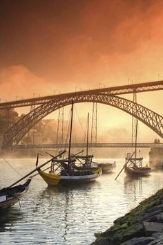 Luis bridge from Gaia, cais de Gaia just accross the river from Porto, Portugal Spain And Portugal, Portugal Travel, Luis Tattoo, Algarve, Bridges Architecture, Monuments, Porto City, Europe Holidays, Portugal Holidays