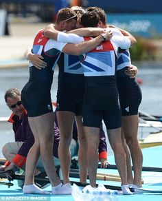 Great Britain's Alex Gregory, Pete Reed, Tom James and Andrew Triggs Hodge