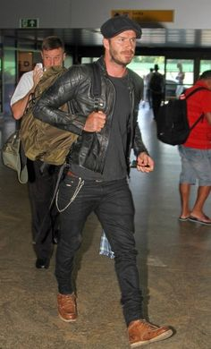 David Beckham | Belstaff Stannard Jacket In Hand Burnished Leather | Celebrity Fashion and Style