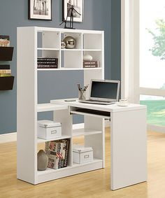 Small Home Office Design Ideas Small Home Office Decorating Ideas! Your Guide to Creating the Home Office of Your Dreams Small Home Office Design Ideas. Having only a small space to work with has i… White Corner Desk, Corner Desk With Hutch, Desk Hutch, Small Corner Desk, Kids Corner, Corner Office Desk, Desk Cabinet, Kitchen Corner, Kitchen Dining
