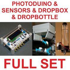 Photoduino + Sensors + Mariotte Solenoid Valve Siphon (DropBottle)+ Object Splash Device (DropBox) ** SET ** SAVE MONEY!!!