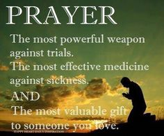 Prayer is key.