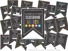 Chalk Classroom Garden Decor- such a cute bulletin board or classroom decoration idea!