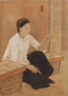 https://flic.kr/p/q7iYAw | Bức họa 'Cô hàng xén' của Nguyễn Phan Chánh