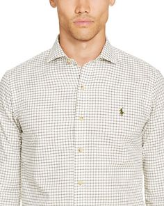 Slim-Fit Checked Twill Shirt - Slim Fit   Casual Shirts - RalphLauren.com