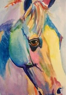 Pony - watercolor by ©Lyn Gill (via DailyPaintworks)