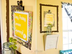 DIY {Plexi Glass Frame made with Sharpie} by Under the Sycamore Diy Poster Frame, Diy Frame, Poster Frames, Plexiglass Frames, Acrylic Frames, Handmade Crafts, Diy Crafts, Diy Craft Projects, Craft Ideas