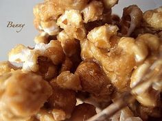 Amish Caramel Corn - There's also a Bourbon Chicken recipe on this site.  Yum!