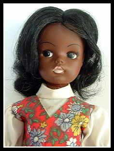 "GAYLE, 1978, Marx Toys, USA.  The only vintage ""black Sindy"" doll."