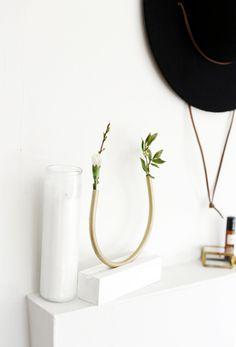 DIY Brass Bud Vase @