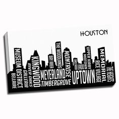 Houston Wrapped Framed Canvas H Town 59a2bb93b