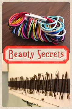 Bobby Pin Storage! I keep losing my bobby pins, this is such a great idea!