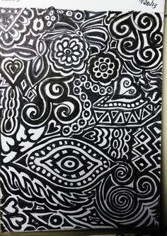 Bored doodling