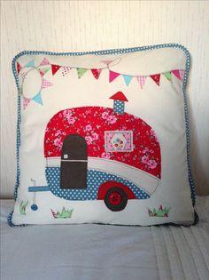 Caravan cushion. A fun sewing project!