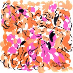 We're tickled pink with flamingo fun #lilly5x5