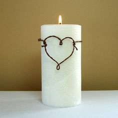 Rustic Unity Candle for Weddings White by StillWaterCandles, $22.00